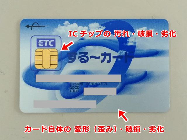 ETCカード異常の確認