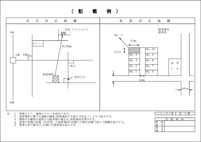 所在図と配置図の記載例